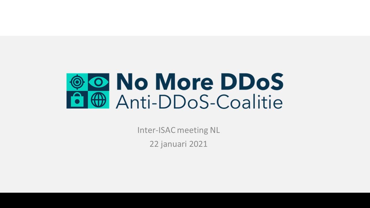 Schermafbeelding Presentatie Inter-ISAC meeting NL