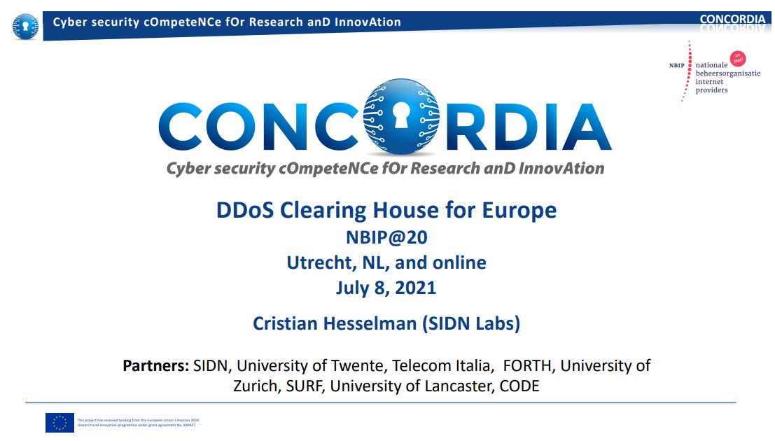 Schermafbeelding Concordia presentatie Cristian Hesselman 8 juli 2021